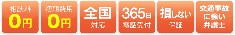 相談料0円 初期費用0円 全国対応 365日電話受付 損しない保証 電話・メール LINE対応