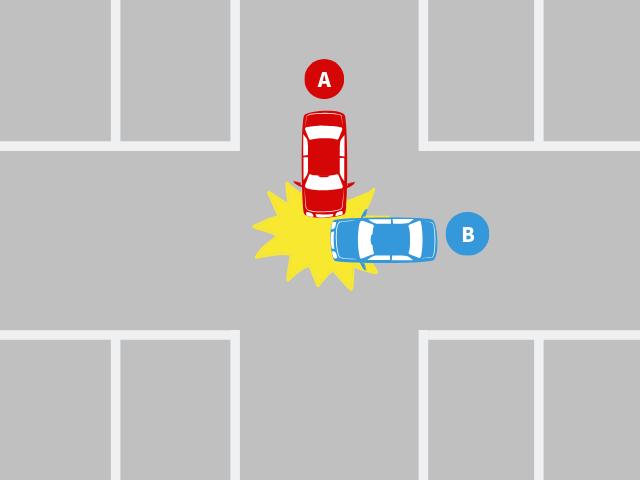 駐車場内交差点で出合い頭に衝突した事故|基本過失割合を解説 – 交通 ...